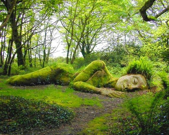 Sleeping goddess at the Lost Gardens of Heligan Lovely dog friendly place to walk and take photos.