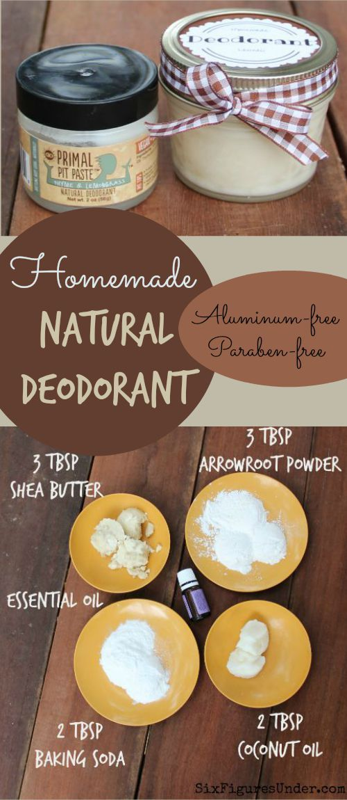 Avoid nasty chemicals with homemade deodorant. This Primal Pit Paste inspired natural deodorant is aluminum free, paraben free and even cheaper than the commercial stuff!: