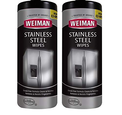 Weiman Stainless Steel Cleaner Wipes 2 Pack Fingerprint Https Www Am Best Stainless Steel Cleaner Stainless Steel Cleaner Weiman Stainless Steel Cleaner