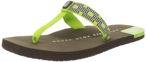 The North Face Women`s Keilani T-Strap Sandal,Lantern Green/Vizsla Brown,11 M US