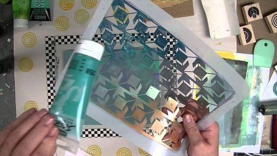 Cloth Paper Scissors -- Gelli JumpStart Journal Demo -- Part 1 - Patti T...