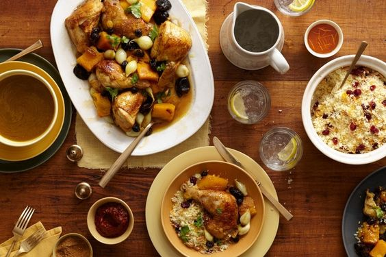 Butternut Squash and Chicken Couscous by Clifford Wright, wsj #Couscous #Butternut_Squash