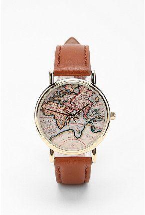 Around the world leather watch: UO