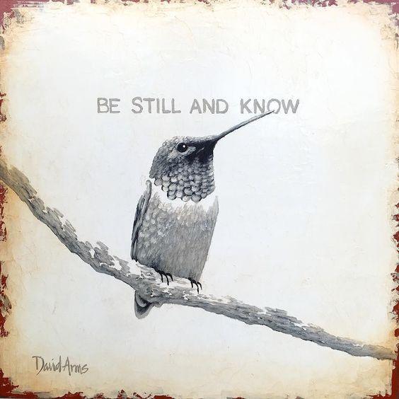 """Be Still And Know""  12""x12"" by davidarmsartist"