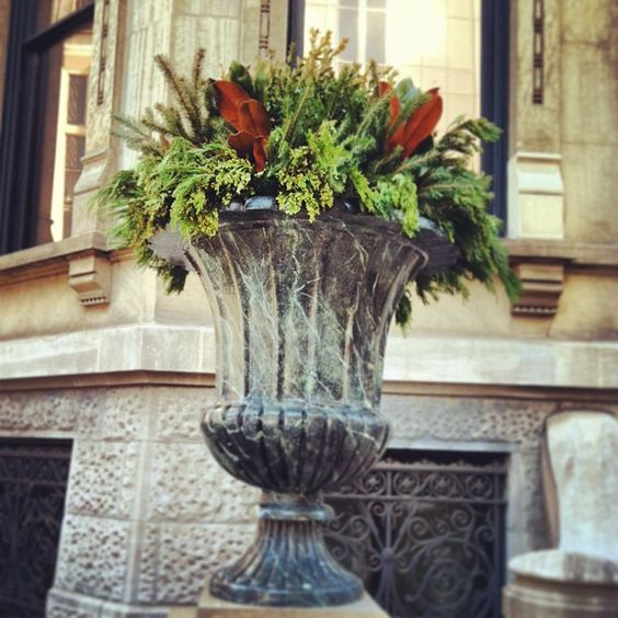 Decorative urns at the Driehaus Museum in Chicago, IL. Photo by @driehausmuseum