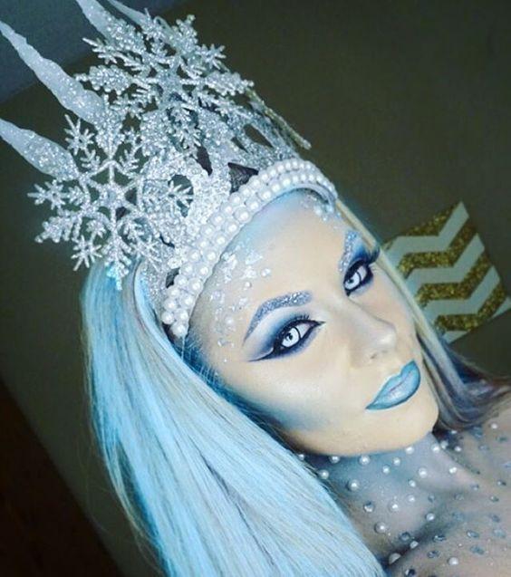 The Ice Queen Halloween Makeup Ideas Halloweenmakeup Ice Queen Costume Fantasy Makeup Ice Queen Makeup