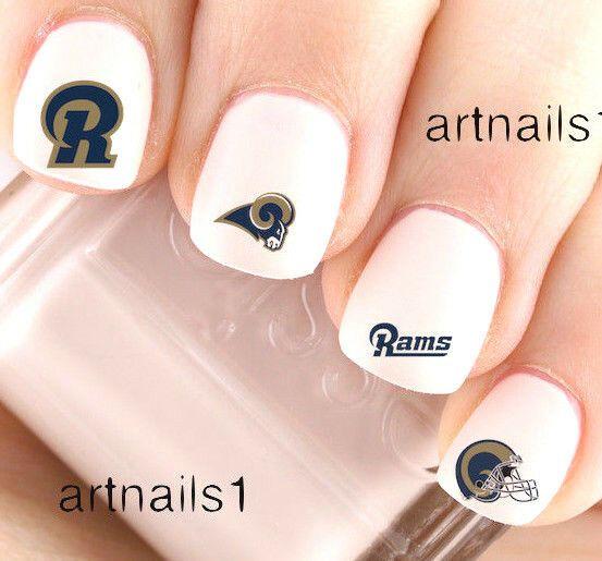 St Louis Rams Nail Art Football Nails Football Nail Designs Football Nail Art