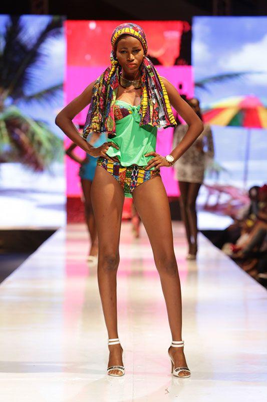 Aya Morrison est incontestablement la reine des tenues swimwear en pagne. Comme une cinquantaine d'autres créateurs, elle était présente au Glitz Africa Fashion Week et elle a égayé le podium avec des tenues swimwear aussi magnifiques les unes que les autres. La créatrice ghanéenne sait décidément nous charmer. Site web Glitz Africa