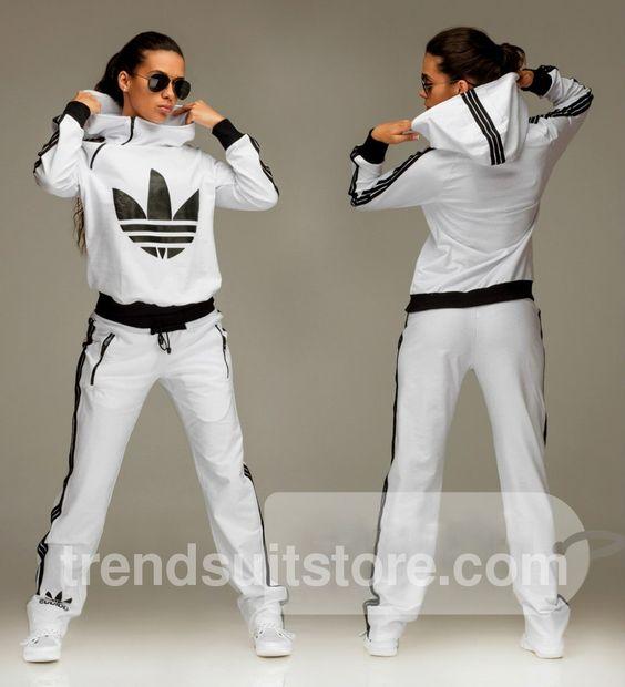 Tracksuit Adidas Woman, Hood Tracksuit, White Tracksuit, Adidas Jumpsuit Woman, Tracksuit Bottoms, Adidas Clothes Women, Adidas Women Outfit, Adidas Women ...