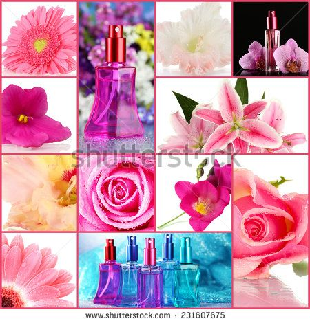 Stock Images similar to ID 206608999 - perfume bottle with rose...