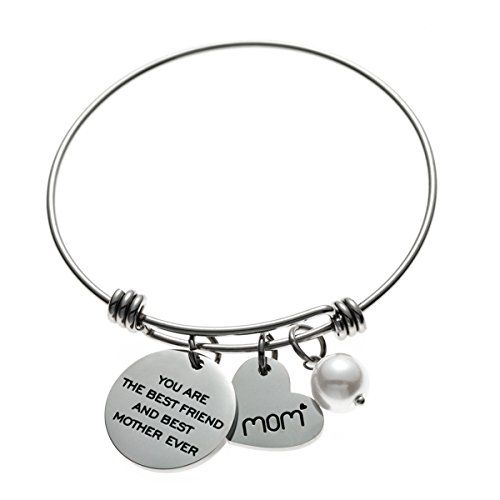 inBLISS Childrens I Love You to The Moon and Back Expandable Wire Bangle Bracelet for Girls Teens Gift Boxed