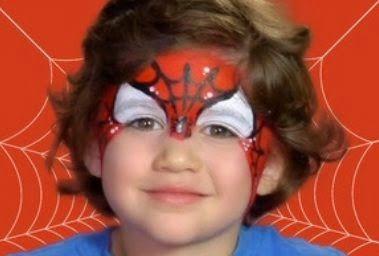 Maquillaje para halloween niños -Hombre araña - paso a paso DIY