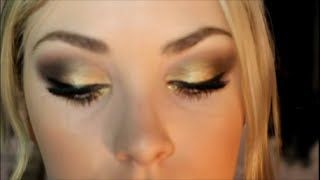 gold bronze makeup tutorial ft naked 2 alley hale - YouTube