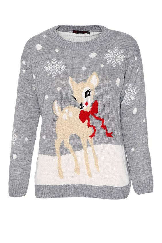 Christmas Boucle Deer Jumper from www.vestryonline.com Shop here: http://www.vestryonline.com/Product/4/4597/Christmas-Boucle-Deer-Jumper