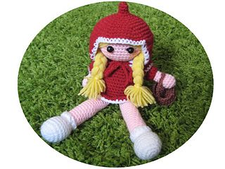 Little Red Riding Hood by Eden Dintsikos - This pattern is available for €2.00 EUR. So first of all to be able to make this doll you'll need to know the basics of how to crochet.