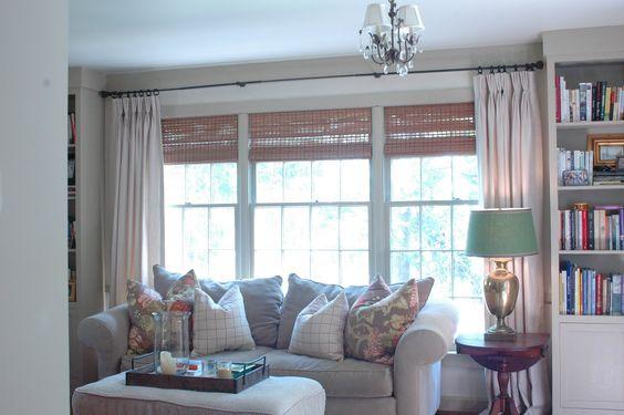 Drapes Bamboo Shades Living Room Pinterest Bamboo