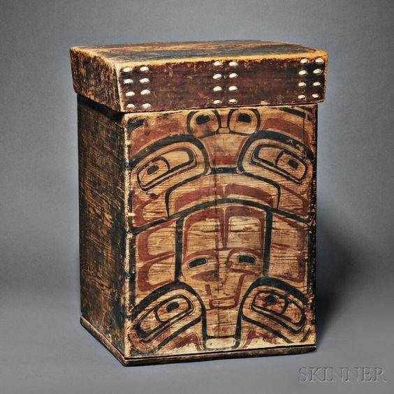 Large Northwest Coast Kerf Bent Box