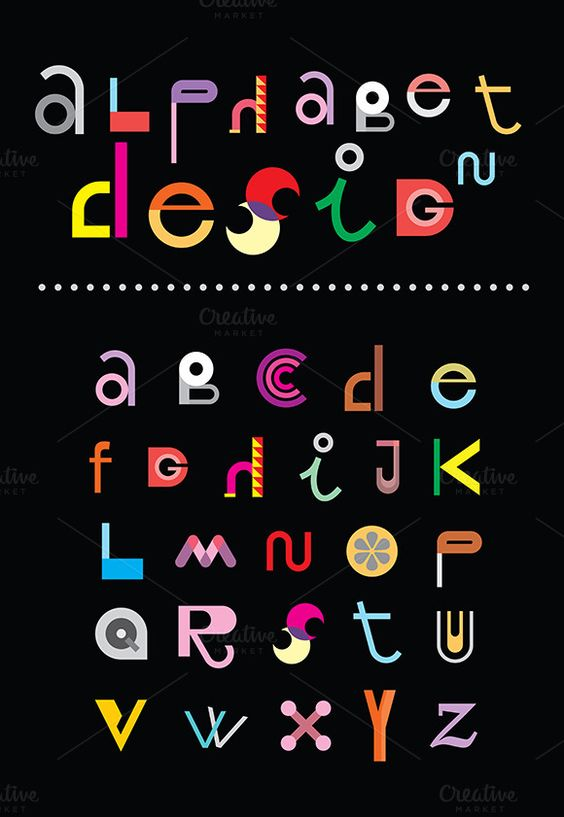 Alphabet Design by dan on Creative Market
