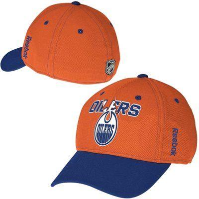 Mens Edmonton Oilers Reebok Orange Second Season Flex Hat