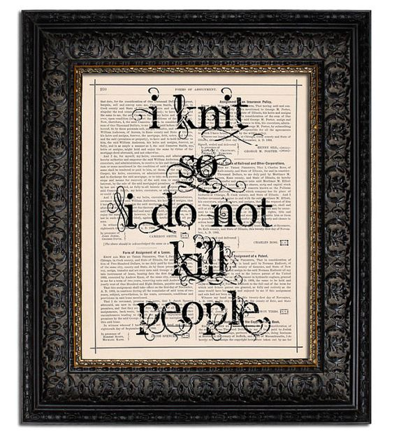 Knitting Humor Posters : Love this knitting poster funny jokes