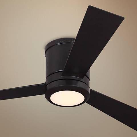 52 Clarity Oil Rubbed Bronze Hugger Led Ceiling Fan 45a19 Lamps Plus Led Ceiling Fan Ceiling Fan Oil Rubbed Bronze