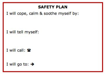 Printables Safety Plan Worksheet anatomy of recovery safety plan printable wallet cards printing extra copies because i
