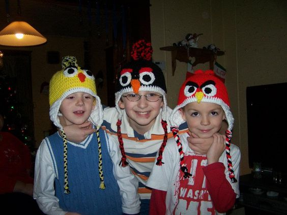 Once I found the awesomeness which is Pinterest, I found the wonderful idea for Angry Bird Hats! After lots of searching, I found very minim...
