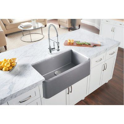 Blanco Ikon 33 L X 19 W Farmhouse Kitchen Sink Finish Metallic