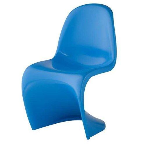 Cadeira Panton INFANTIL ABS Cor Azul.   - Em ABS injetado; - Pintura automotiva; - Chão até Assento 31 Centimetros; - Suporta até 50kg.