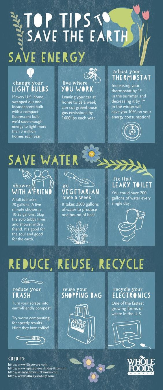 Top tips to save the earth!: