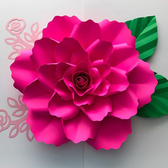 PDF Paper Flower Template With Center Original Design by