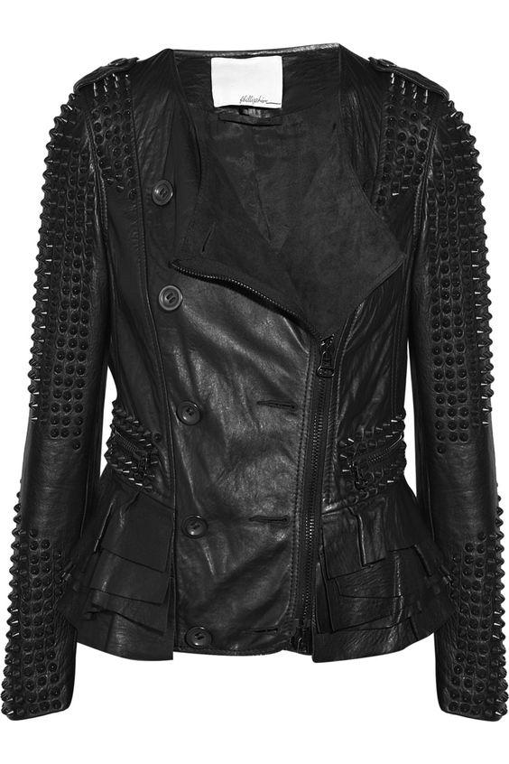 3.1 Phillip LimStud-embellished leather jacket