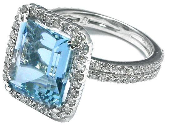 1950s 4.95ct Aquamarine Ring
