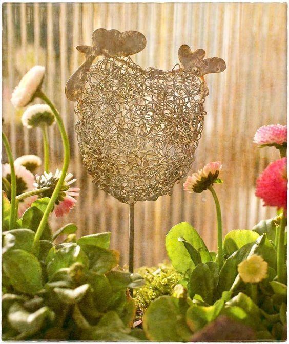 garden decor cool gardening stuff Pinterest Gardens, Wire and