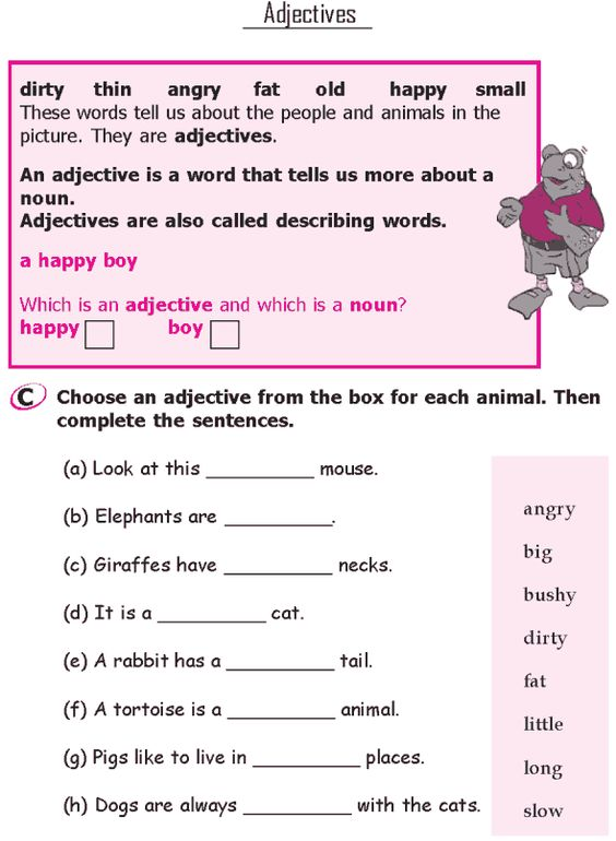 Worksheet Basic English Grammar Worksheets grade 1 good grammar and on pinterest lesson 7 adjectives 2
