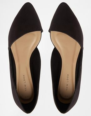 Enlarge New Look Jingy Black Asymmetric Pointed Flat Shoes