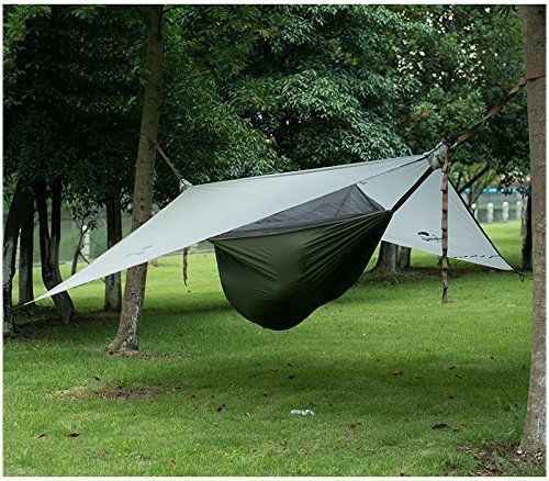 Ubens 1 Person Camping Hammock Tent Outdoor Hanging Bed With Mosquito Net Hanging Tent Gray Army Green Click Image To Camping Hammock Tent Hammock Tent Tent