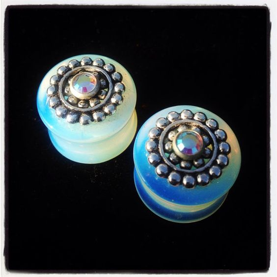 "Gia Lane Originals: 9/16"" (14mm) Opalite Glass w/Eastern Inspired Embellishment  on Etsy, $40.00"