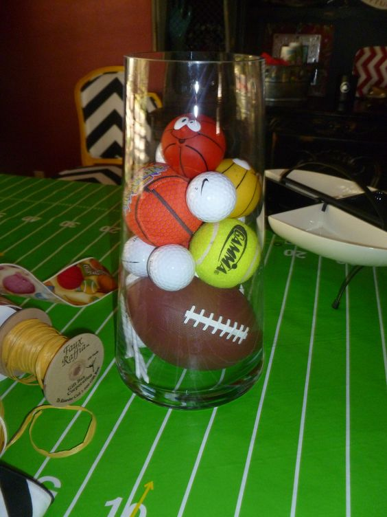 Sports baby shower ideas baby shower show me for Athletic banquet decoration ideas