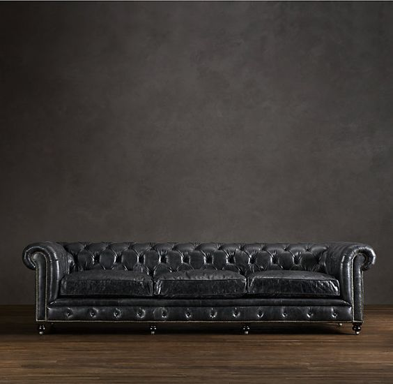 rhs kensington leather sofaa masterful reproduction by timothy oulton of the classic chesterfield style our sofa evokes the grand gentlemens club black leather sofa perfect