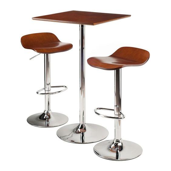 Kallie 3-Pc Set Pub Table Bar Height Stools