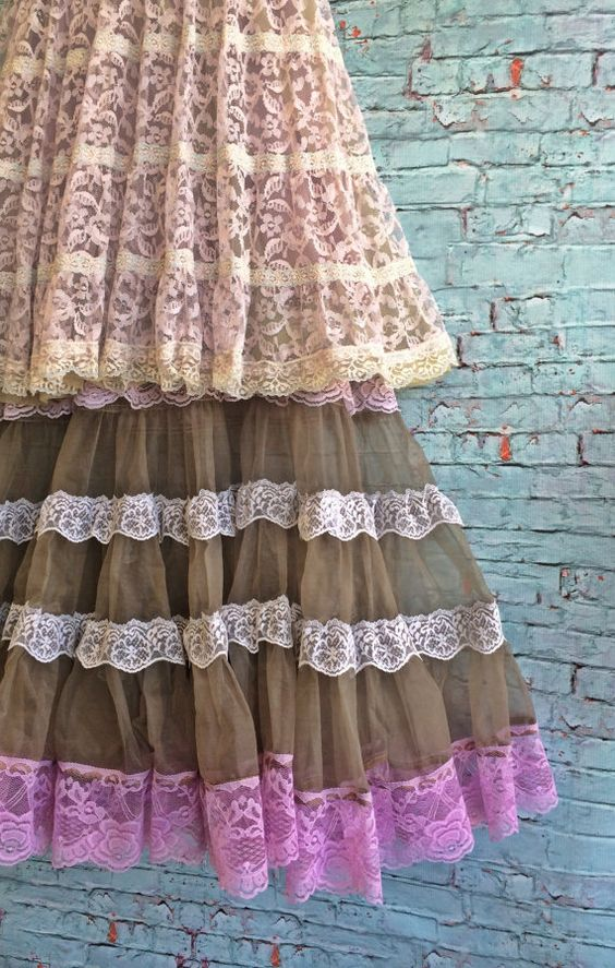 olive & lilac lace organza petticoat party by mermaidmisskristin