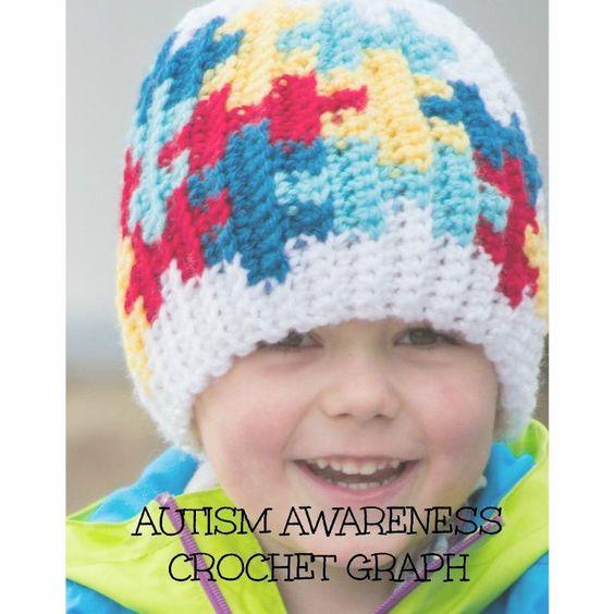 Crocheting: Autism Awareness Puzzle Color Grid Crochet ...