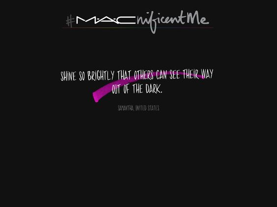 You could win a trip to NYC for a makeover and may become the face of M·A·Cnificent Me! #macnificentme :) please share