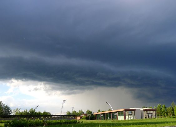 A storm system over Modena, Italy.
