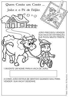 Coisas de criança!: João e o pé de feijão. Historinha infantil com moral da história, dinâmicas e atividades.