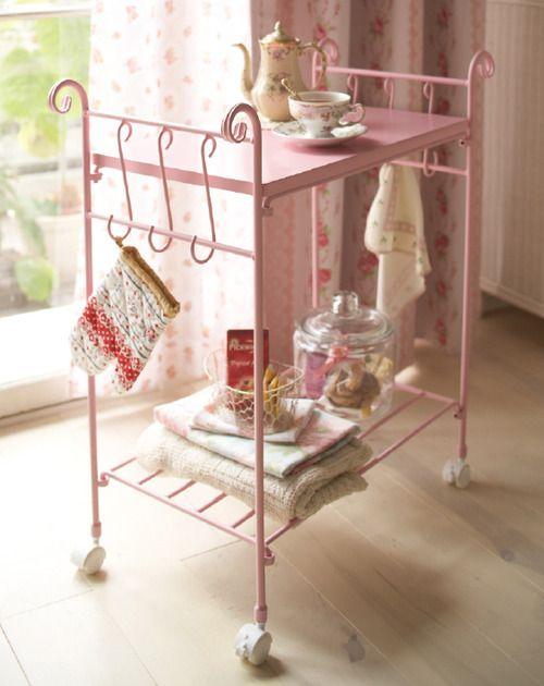 Shabby chic tea cart <3