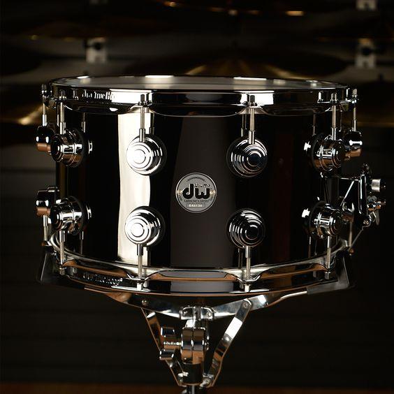DW 8x14 Black Nickel Over Brass Rolled 1mm Snare Drum