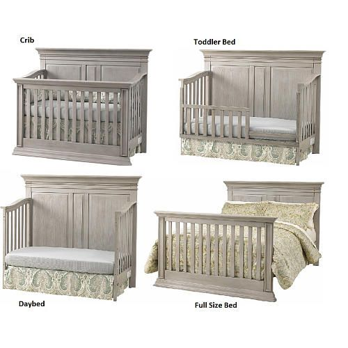 Baby cache vienna 4 in 1 convertible crib ash gray for Baby furniture