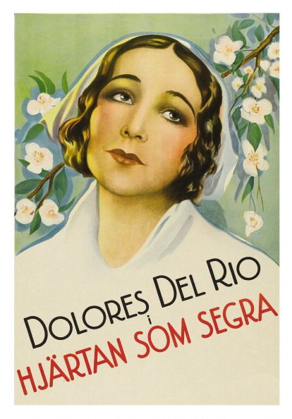 Portrait Delores del Rio on a poster that advertises the movie 'Evangeline ' 1929